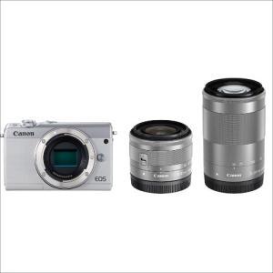 EOSM100WZKWH Canon ミラーレス一眼カメラ EOS M100 ダブルズームキット ホ...