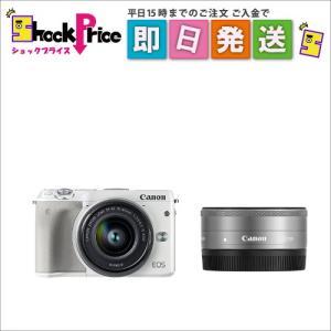 EOSM3WHWLK2 Canon ミラーレス一眼カメラ EOS M3 ダブルレンズキット(ホワイト) EOSM3WH-WLK2|mnet
