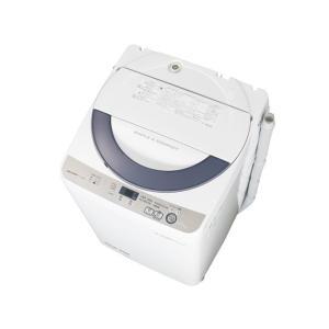 ESGE55R シャープ  穴なし槽 5.5Kg 全自動洗濯機 グレー ESGE55R mnet