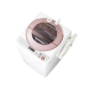 ESGV80RP シャープ 8.0kg 穴なし槽 全自動洗濯機 ピンク系 ESGV80RP|mnet