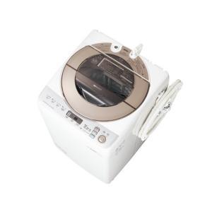 ESGV90RN シャープ 9.0kg 穴なし槽 全自動洗濯機 ゴールド系 ESGV90RN mnet