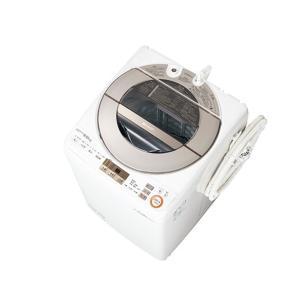 【代引き不可】ESGV9AN シャープ 穴なし槽 9Kg 全自動洗濯機 ゴールド ESGV9AN|mnet