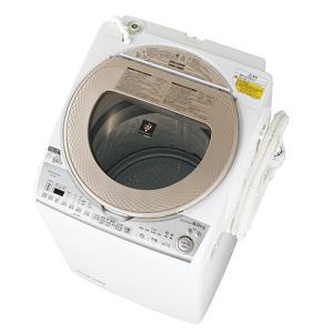 [プレミアム会員 ポイント10倍]ESTX8BN シャープ タテ型洗濯乾燥機 8kgタイプ ゴールド系 代引き不可 ESTX8B-N|mnet