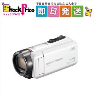 GZR400W JVC ビデオカメラ Everio R 防水5m 防塵仕様 内蔵メモリー32GB パールホワイト GZ-R400-W|mnet