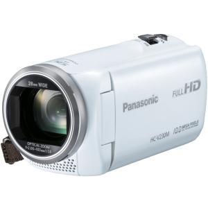Panasonic デジタルハイビジョンビデオカメラ 内蔵メモリー8GB ホワイト HC-V230M-W|mnet