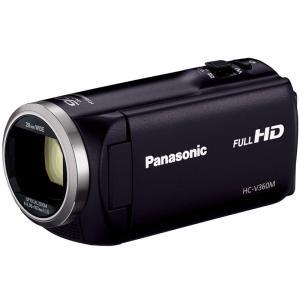 HCV360MK パナソニック 高倍率90倍ズーム HDビデオカメラ ブラック HCV360MK|mnet