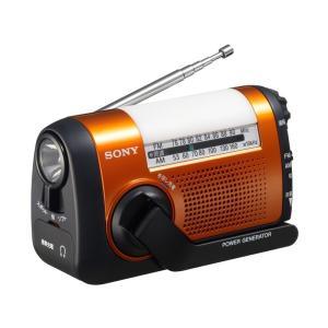 ICFB08D SONY iPhone充電対応 手回し充電ラジオ オレンジ ICF-B08/D|mnet