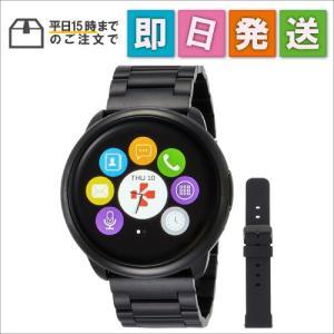 KRZEROUNDPREBK マイクロノス 腕時計 ZEROUND Premiumスマートウォッチ ブラックメタル KRZEROUND-PRE-BK|mnet