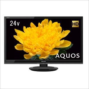 LC24P5B シャープ 24V型 液晶 テレビ AQUOS LC-24P5-B ハイビジョン 外付HDD対応(裏番組録画) ブラック|mnet