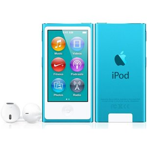 MD477JA APPLE 2.5型液晶 Bluetooth 4.0塔載 第7世代iPod nano 16GB ブルー MD477J/A|mnet