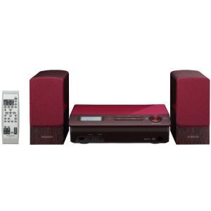 MEA3R ケンウッド Bluetoothを搭載 ローフォルムデザイン ミニコンポ レッド M-EA3-R|mnet