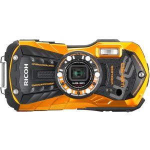WG30WOR RICOH 防水12m耐ショック1.5m 防水デジタルカメラ WG30WORフレームオレンジ|mnet