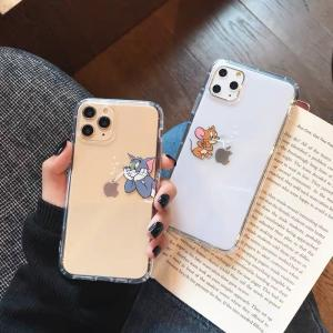トムとジェリー iPhoneケース アイフォンケース 韓国 大人気 可愛い キャラクター 透明ケース...