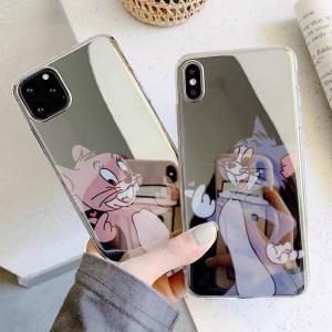 トムとジェリー iPhoneケース 韓国 アイフォンケース 大人気 可愛い ミラーケース 鏡面 個性...