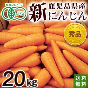 有機栽培(有機JAS)鹿児島県・新にんじん20kg|moa