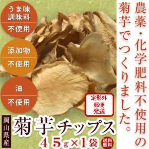 菊芋チップス45g(きくいも)【送料無料・岡山県産菊芋使用】無添加・農薬不使用・化学肥料不使用・油不使用・うま味調味料不使用|moa
