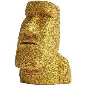 南三陸モアイファミリー 【 プレミアム ミニモアイ像 ゴールド 金 金運・願望成就 】 おもしろ雑貨 インテイリアグッズ お守り 誕生日プレゼント 置物 オブジェ|moai-store