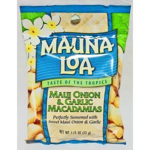 ハワイのお土産の大定番といえばこれ!マウナロア社製のマカダミアナッツ・マウイオニオン&ガーリ...