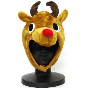 即納 クリスマス トナカイ コスプレ 衣装 メンズ レディース コスチューム 帽子 着ぐるみ 被り物 大人 サザック SAZAC 2661GD mobadepa