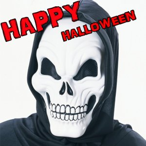 RUBIE'S (ルービーズ)  Scary Skeleton Mask 3360 スケアリースケルトンマスク|mobadepa