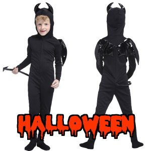 コスプレ ハロウィン 衣装 子供 ハロウィン 仮装 衣装 コスチューム 子供 デビルタイツキッズ|mobadepa