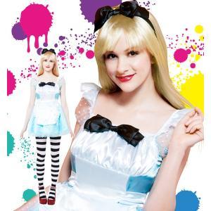 ハロウィン コスプレ ディズニー 不思議の国のアリス風 衣装 レディース 仮装 コスチューム ワンダーランドガール|mobadepa