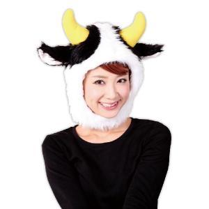 アニマル かぶり物 コスプレ衣装 コスチューム かぶりもの パーティグッズ 動物 マスク アニマル マスク もふもふうしさん|mobadepa