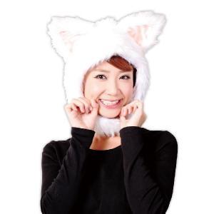アニマル かぶり物 コスプレ衣装 コスチューム かぶりもの パーティグッズ 動物 マスク アニマル マスク 猫グッズ もふもふにゃんにゃん|mobadepa