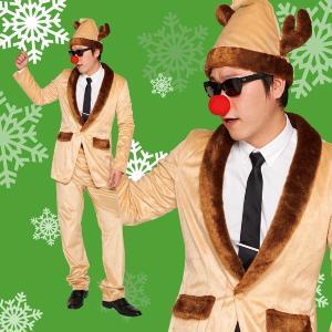 クリスマス トナカイ コスプレ 衣装 メンズ 安い 男性 お洒落 長袖 コスチューム おもしろ 20...