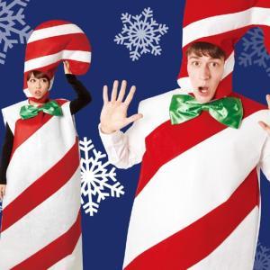 サンタ より目立つ コスプレ レディース メンズ 着ぐるみ 安い クリスマス コスプレ 衣装 男性 女性 キャンディマン|mobadepa