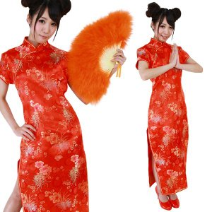 コスプレ 衣装 安い 人気 チャイナドレス ロング チャイナ服 コスチューム 民族衣装 CO-COベーシックチャイナ|mobadepa