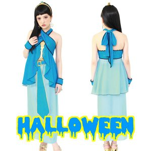 ハロウィン コスプレ 衣装 女性 ディズニー ジャスミン風 レディース コスチューム 仮装 クレオパトラ mobadepa