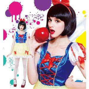 ハロウィン コスプレ 衣装 安い ディズニー 白雪姫風 仮装 ドレス コスチューム レディース スノーホワイトガール|mobadepa