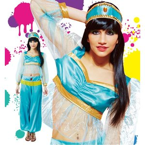 ハロウィン コスプレ 衣装 ディズニー レディース アラジン ジャスミン風 仮装 コスチューム 女性 アラビアンプリンセス|mobadepa