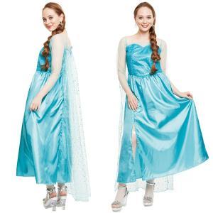 ハロウィン コスプレ 衣装 ディズニー レディース アナと雪の女王 エルサ風 コスチューム 仮装 エレガントワンピース mobadepa
