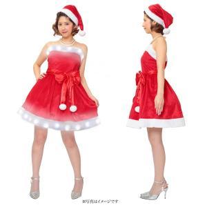 クリスマス コスプレ レディース サンタ コスプレ 衣装 セクシー 光る コスチューム 女性 大人 エレクトリックベアトップサンタ|mobadepa