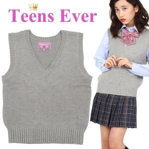 スクールベスト 女子 ベスト レディース ニット 学生 女子 安い 高校生 JK ブランド TEENS EVER 杢グレー L|mobadepa