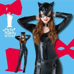 ハロウィン コスプレ 衣装 女性 アメコミ キャットウーマン風 レディース 仮装 コスチューム NYW ミッドナイトキャット|mobadepa