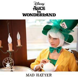 ハロウィン コスプレ 衣装 女性 ディズニー アリス マッドハッター 仮装 コスチューム 帽子屋 レディース 大人用 95815|mobadepa