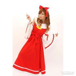 巫女 コスプレ 巫女 衣装 袴 セット コスプレ アニメ コスチューム 着物 東の国、麗しの巫女 A0516RE|mobadepa