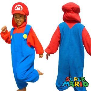 ハロウィン コスプレ 衣装 キッズ 子供 スーパーマリオ マリオ フリース 着ぐるみ 仮装 コスチュ...