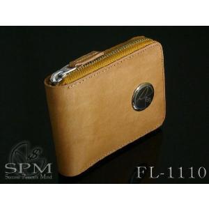 財布 メンズ 二つ折り 革 ブランド ラウンドファスナー 財布 バッファローレザーショートウォレット FC-1110|mobadepa