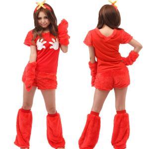 ハロウィン コスプレ 衣装 ポンキッキーズ レディース 仮装 女性 サンリオ もこもこ ムック 5点セット ING-024|mobadepa