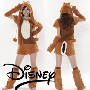 ハロウィン コスプレ 衣装 ディズニー レディース 仮装 女性 チップとデール もこもこ チップ 5点セット|mobadepa