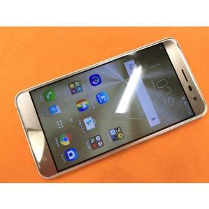 ◆キャンペーン《香港版SIMフリー》日本語対応 5.5インチモデル ASUS ZenFone 3  ZE552KL [ゴールド] 中古 白ロム mobax