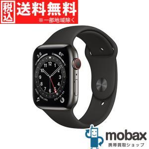 ◆キャンペーン【新品未開封品(未使用)】 Apple Watch Series 6 GPS Cellular 44mm M09H3J/A [グラファイトステンレススチールとブラックスポーツバンド]|mobax