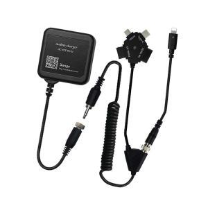 NII-set:ACマルチ充電器セット【iPhoneX】【iPhone8〜5】【android】【Type-C】【ガラケー】|mobi