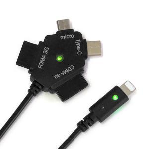 NII-set:ACマルチ充電器セット【iPhoneX】【iPhone8〜5】【android】【Type-C】【ガラケー】|mobi|03