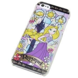 iPhone SE/5/5S 【Disney/ディズニー】 「ラプンツェル」 カバー ケース ステンドグラス プリンセス|mobile-f