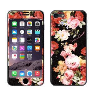 iPhone8 iPhone7 DRESSCAMP/ドレスキャンプxGizmobies/ギズモビーズ 「BLACK BOUQUET」 プロテクター カバー ラメ 花柄|mobile-f